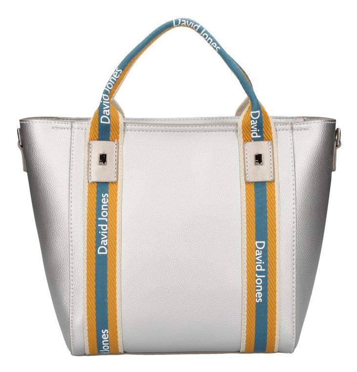 David Jones moderní stříbrná dámská kabelka ve sportovním designu