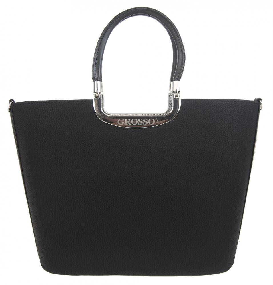 237565e439 Elegantní černá matná kabelka do ruky S7 GROSSO