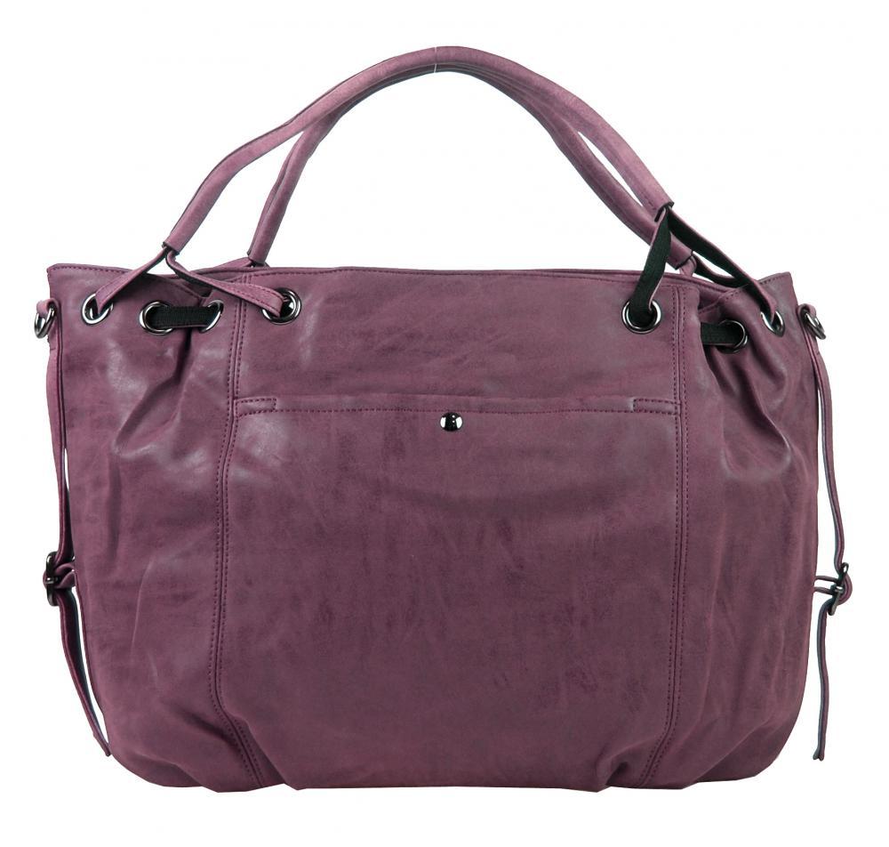 Velká dámská kabelka z broušené ekokůže H16093 fialová