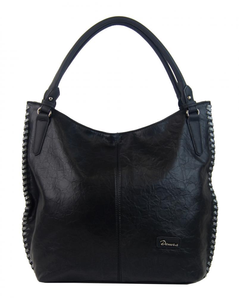 Moderní černá dámská kabelka přes rameno 3796-DE