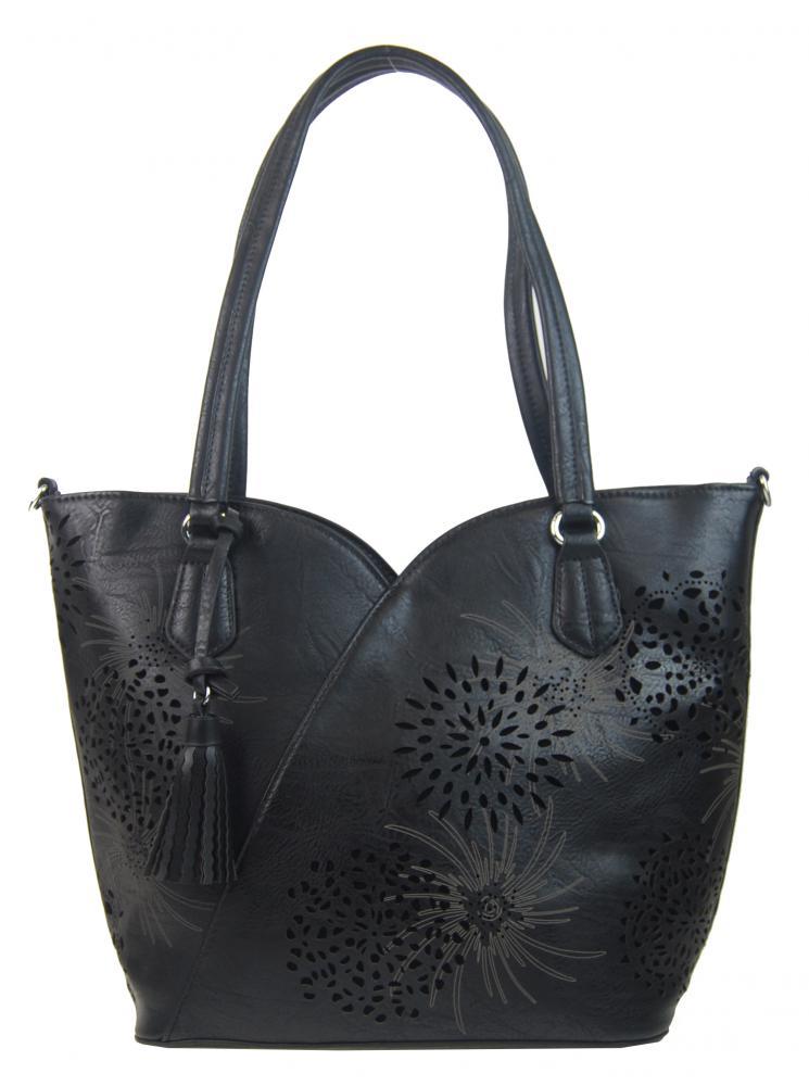 Černá dámská kabelka přes rameno 4394-BB
