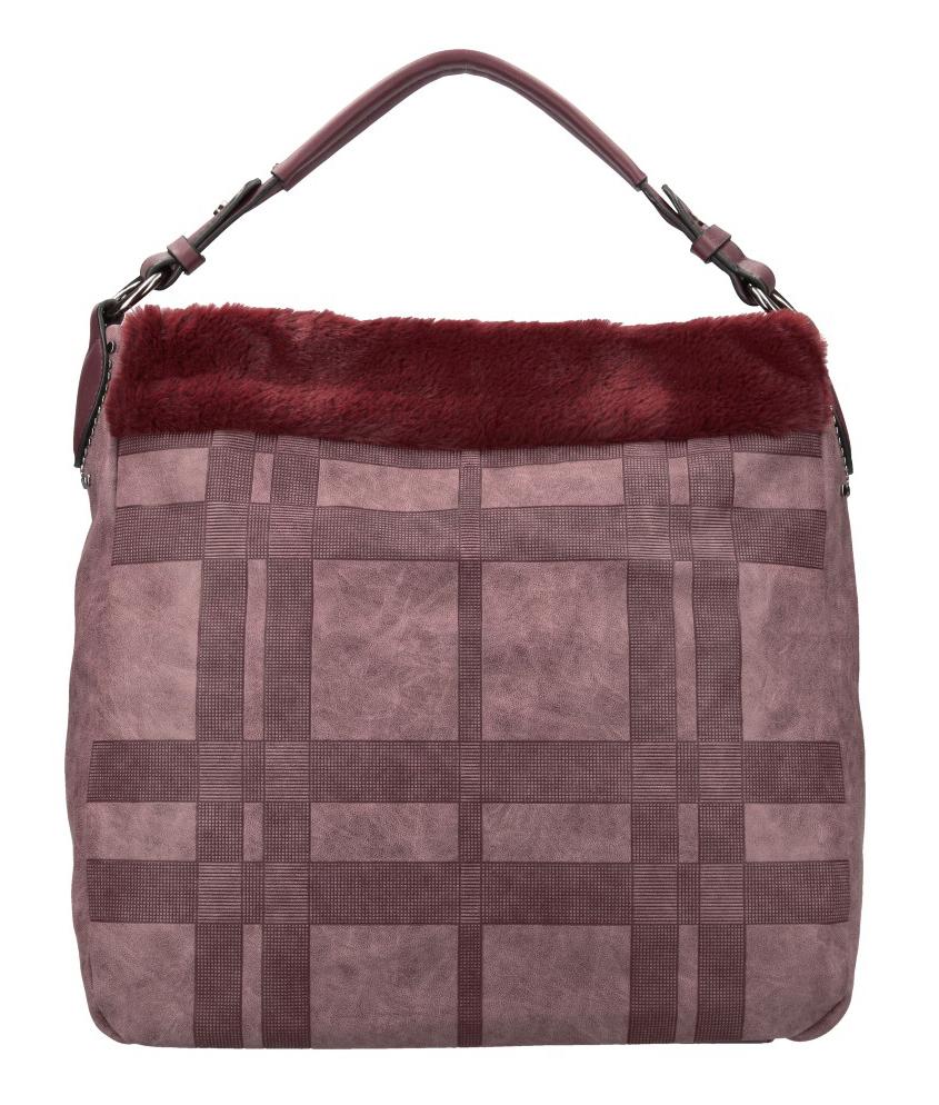 Kombinovaná velká dámská kabelka Tommasini bordová
