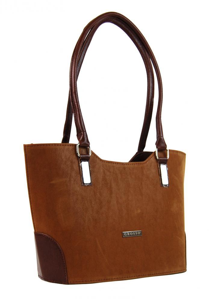 42ad309f5 Dámské kabelky | GROSSO hnědá dámská kabelka přes rameno | Výprodej ...