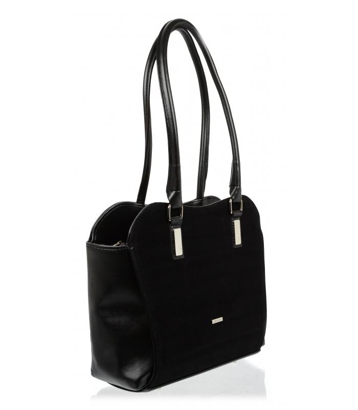 e8835fa092 GROSSO černá velká dámská kabelka přes rameno. skladem