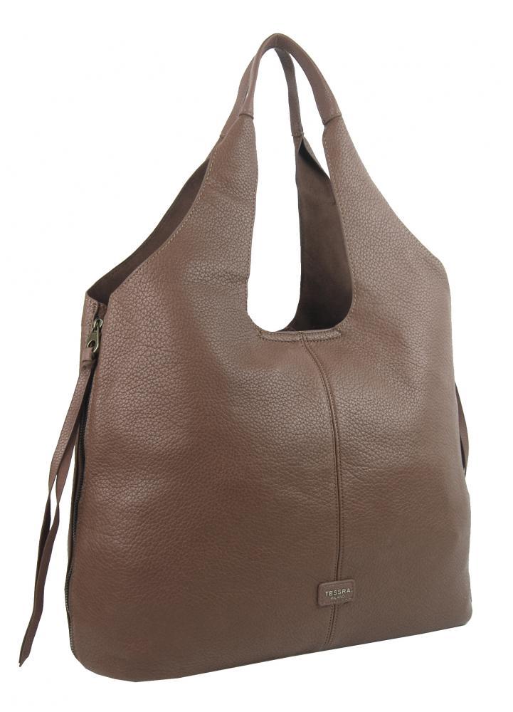 Moderní jílově hnědá dámská kabelka přes rameno 5064-TS