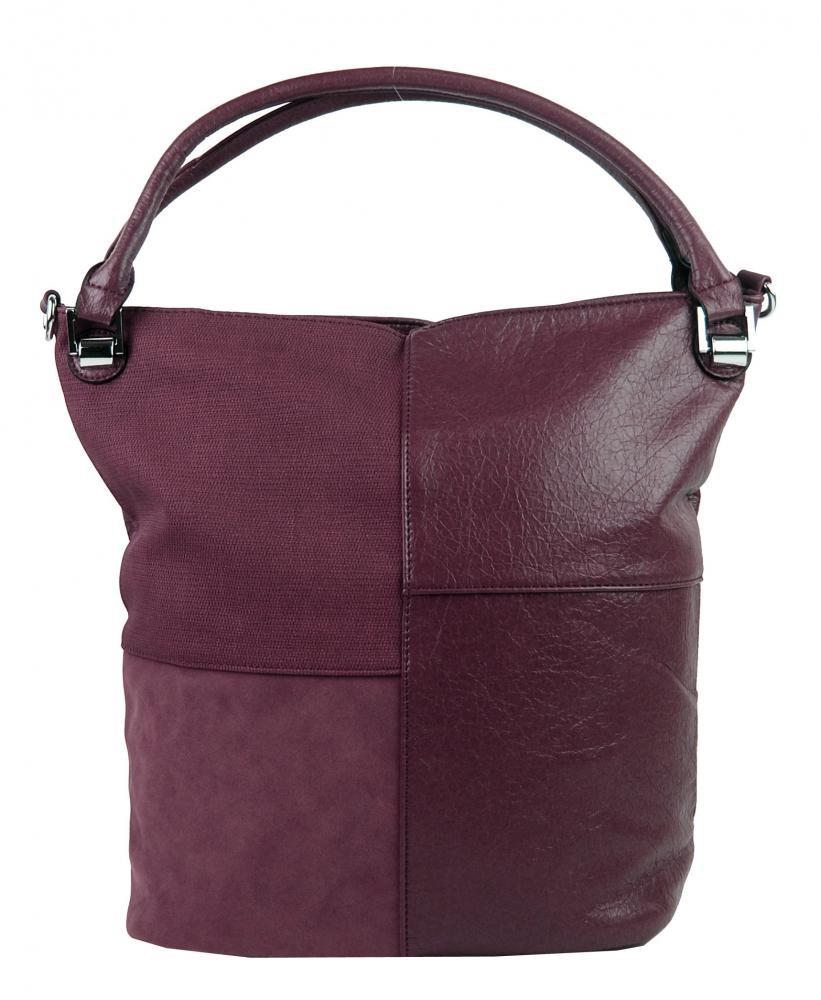 Kombinovaná dámská kabelka NH8028 vínově červená