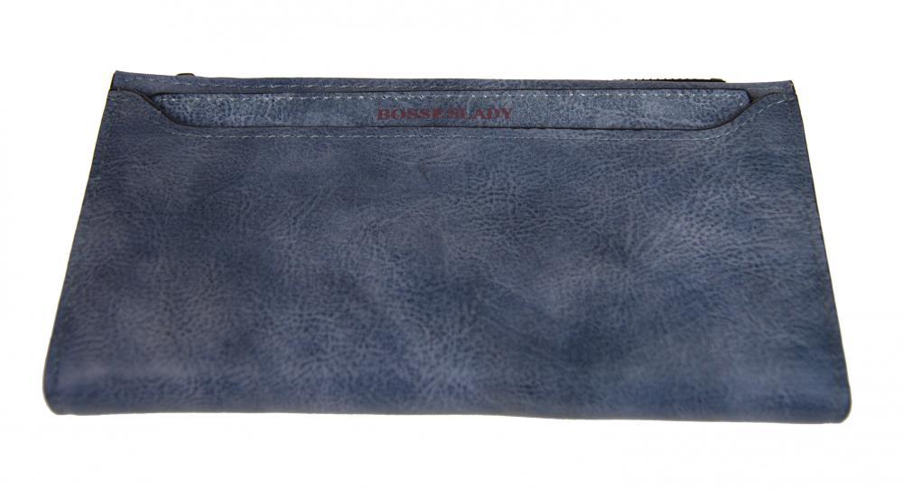 Tenká šedomodrá dámská peněženka BOSSESLADY DX13