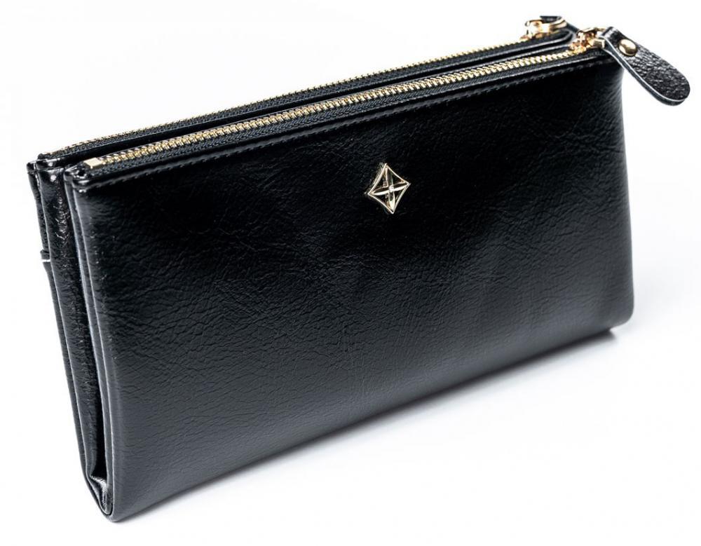 Prostorná černá dámská peněženka v krabičce MILANO DESIGN