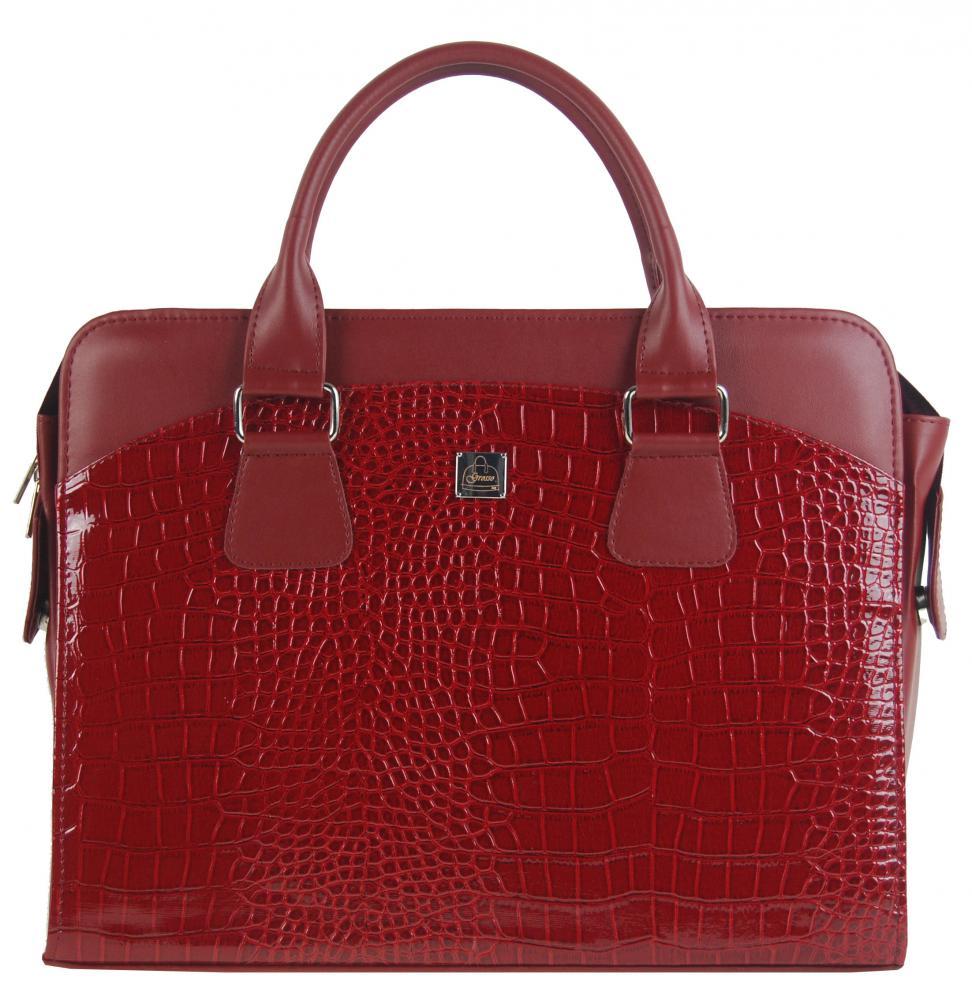 """Dámská luxusní taška na notebook karmínový lak kroko ST01 15.6"""" GROSSO"""