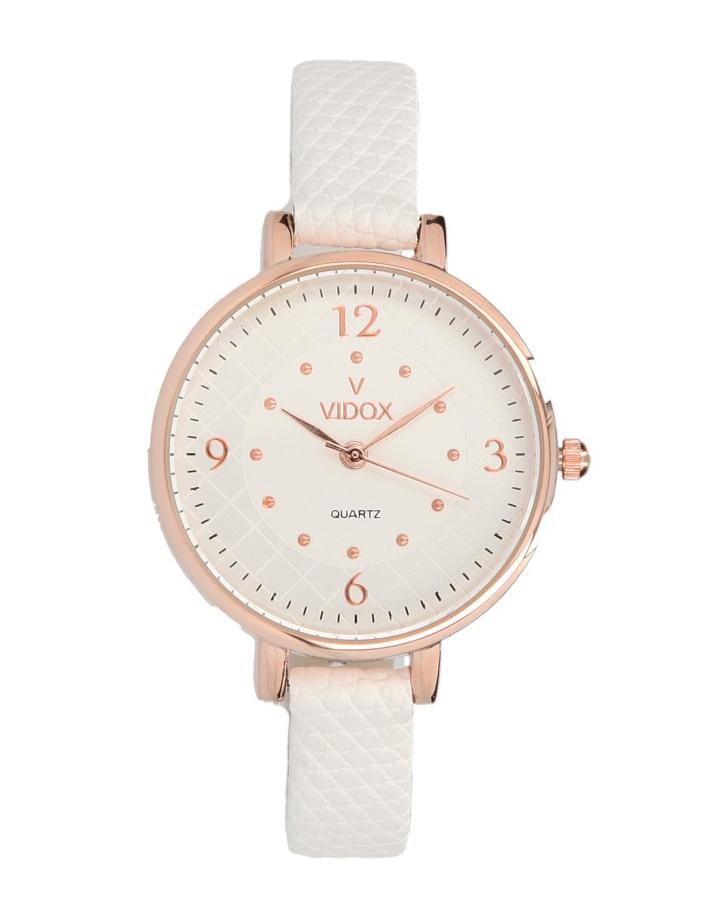 Náramkové dámské hodinky bílé Vidox Quartz CC15091