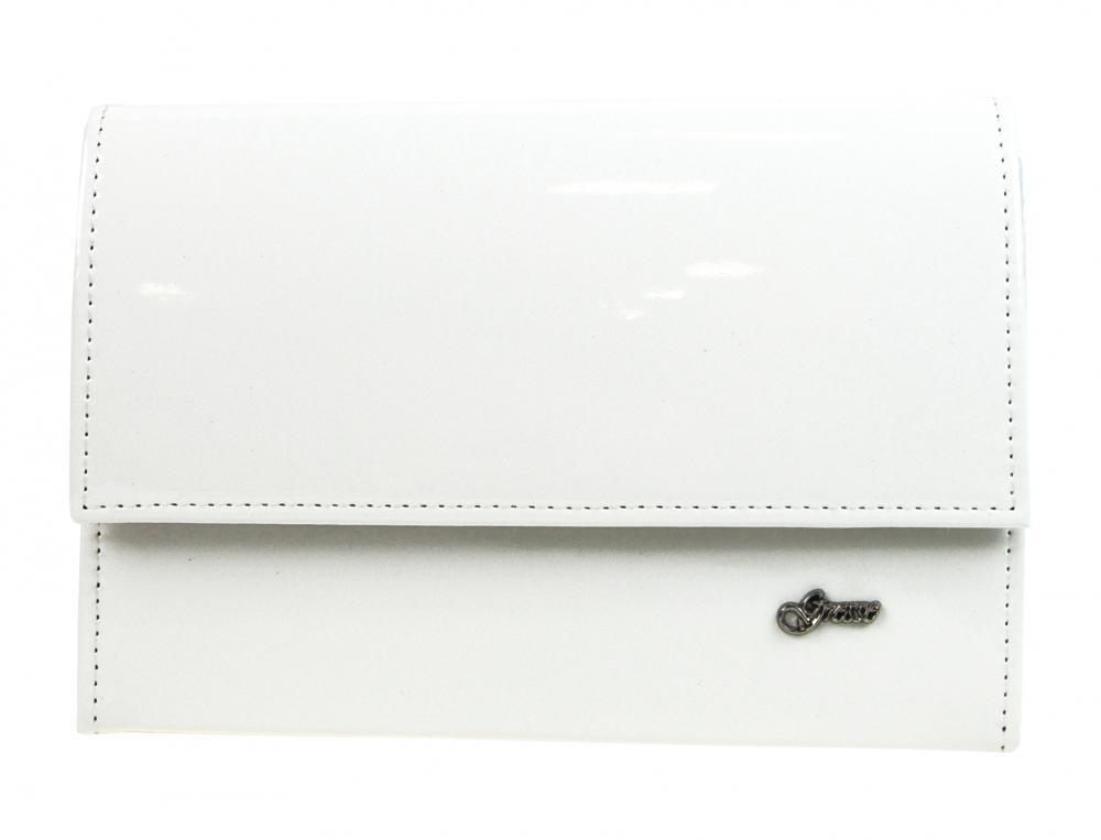 Bílé lakované dámské psaníčko SP101 GROSSO
