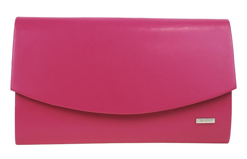 Fuchsiově růžové matné dámské psaníčko SP128 GROSSO