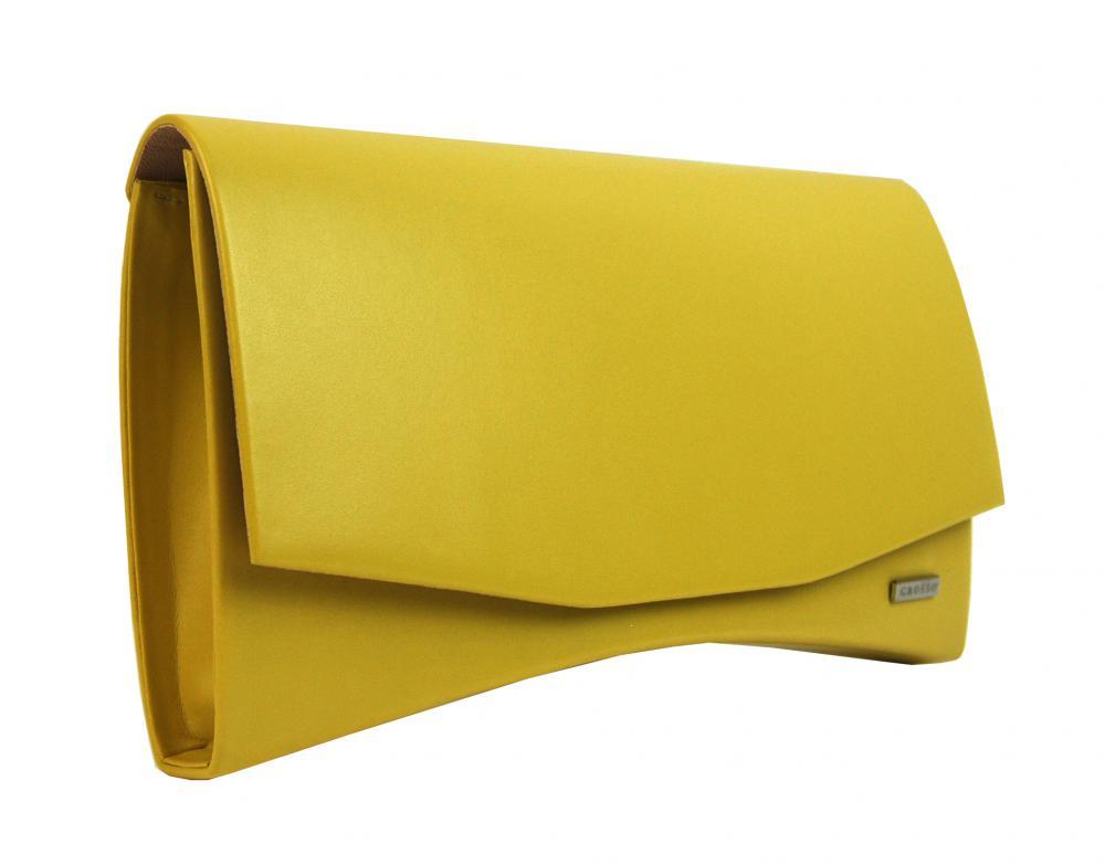 Banánově žluté dámské matné psaníčko SP129 GROSSO