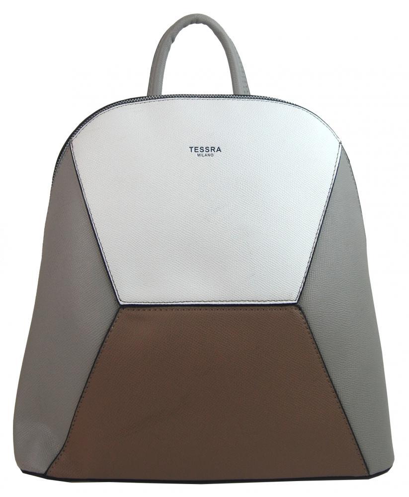 Šedý dámský elegantní batůžek 4187-TS