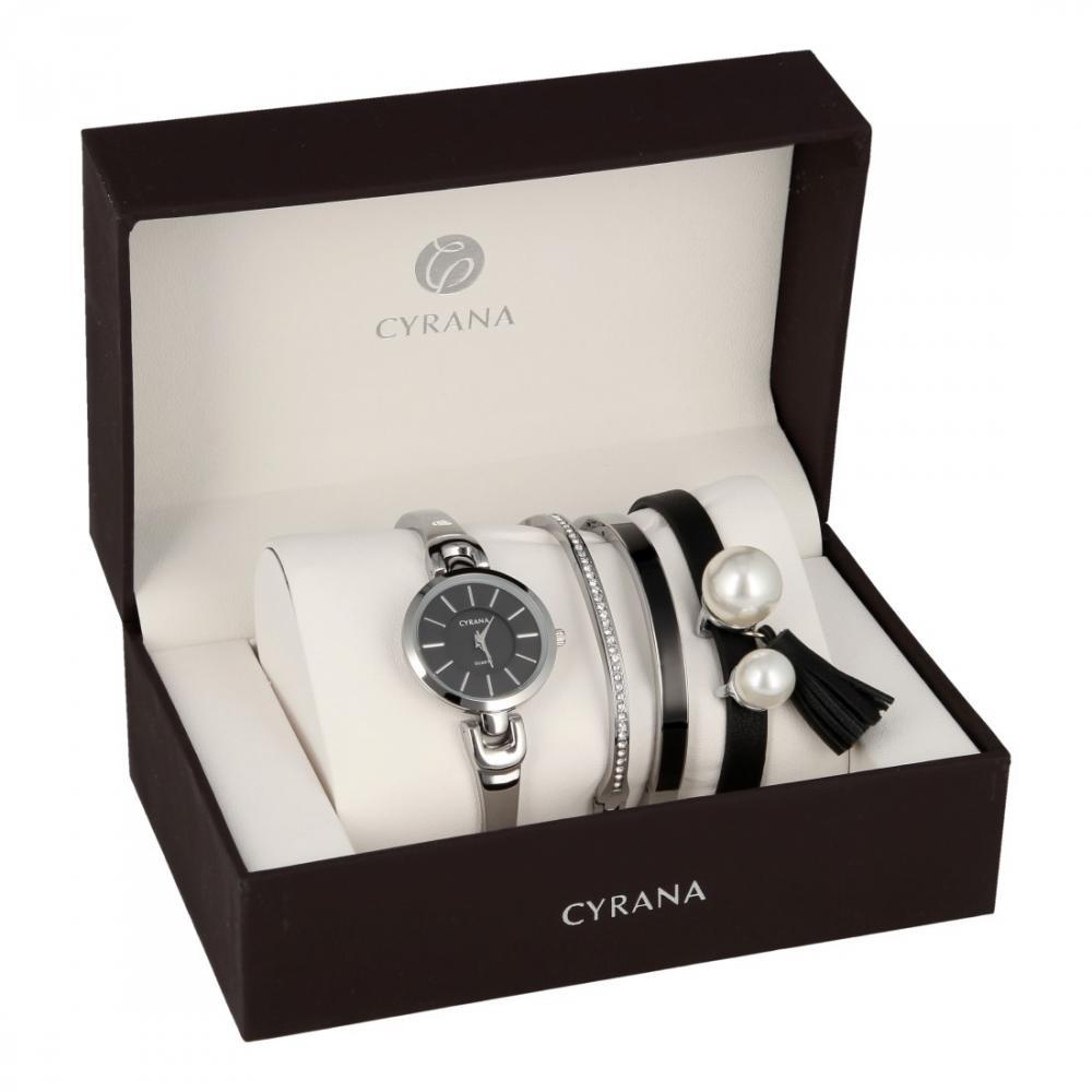 CYRANA dámská dárková sada hodinek s náramky GV19033-M3