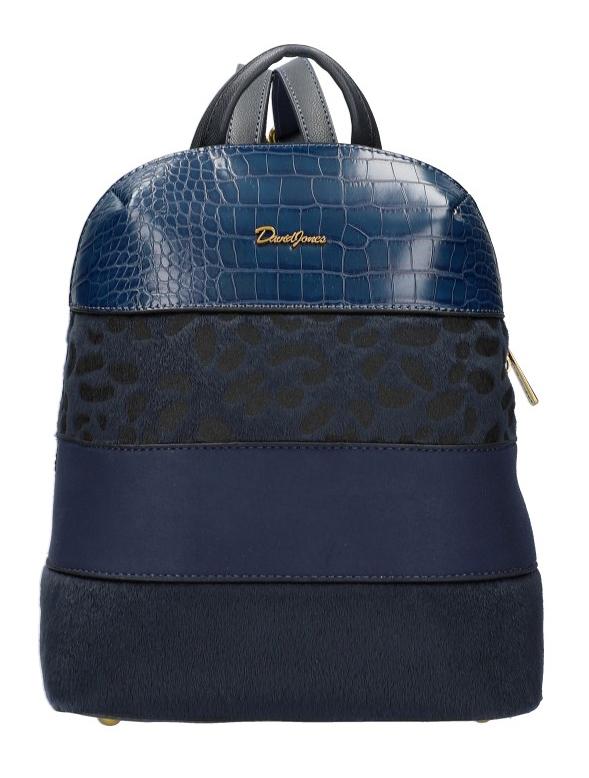 Modrý dámský módní elegantní batůžek David Jones 6157-2