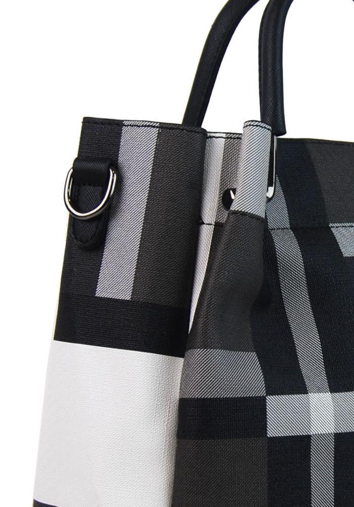 5c4c13a3fc9 Černo-bílá elegantní dámská kabelka do ruky