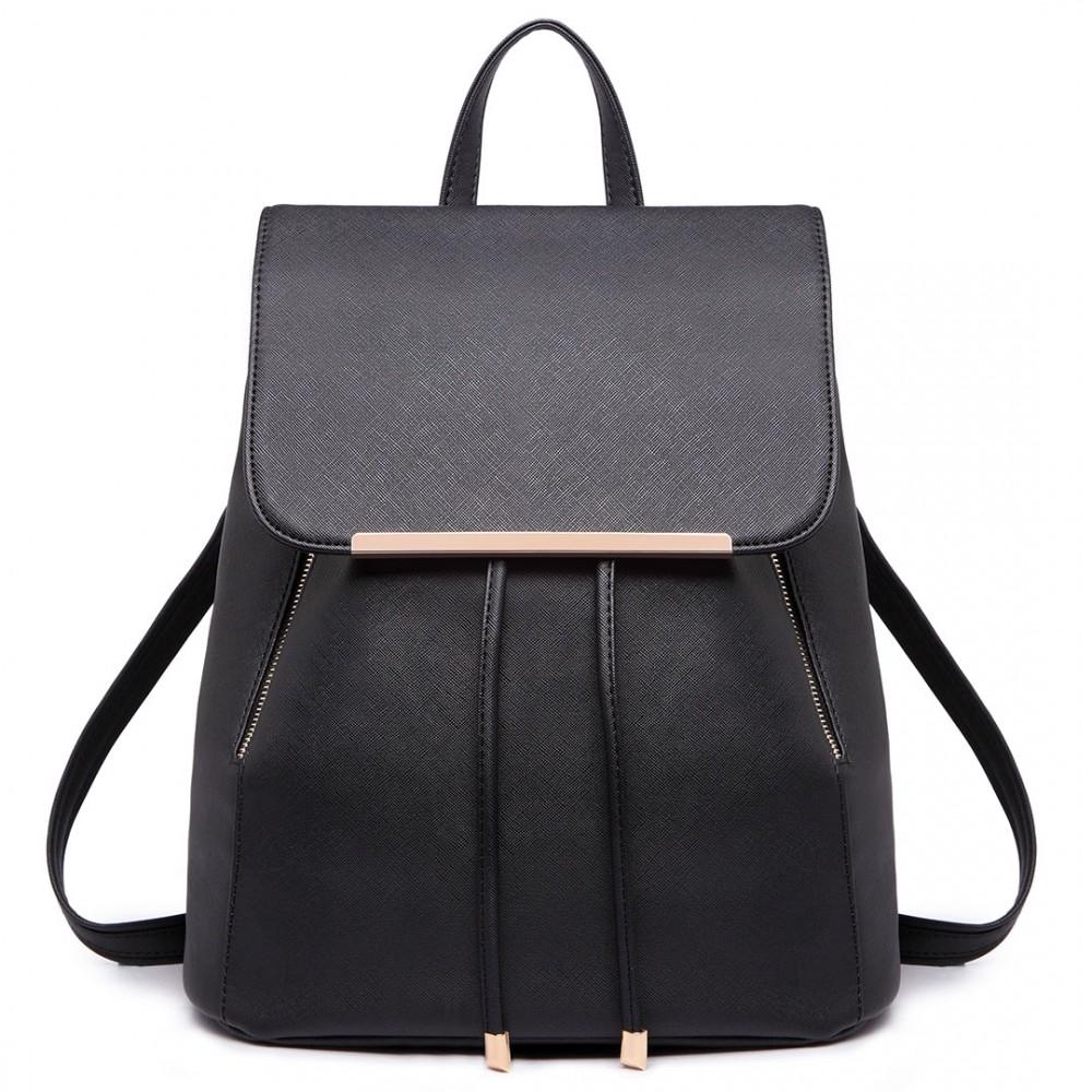 Stylový dámský módní batoh E1669 černý