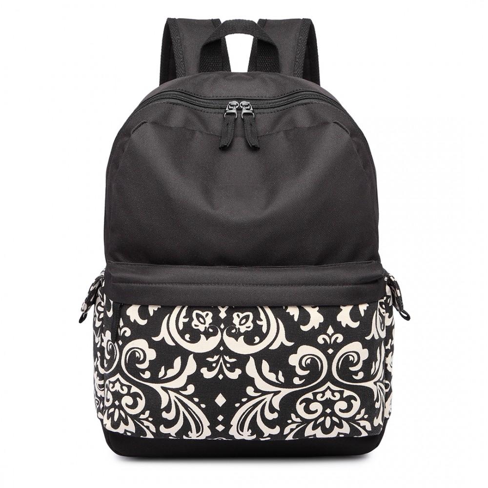 Čierny unisex batoh do školy s vodoodpudivou úpravou Miss Lulu