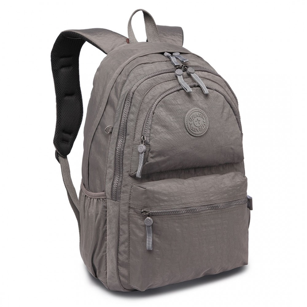 Kvalitní šedý batoh s vodoodpudivou úpravou Miss Lulu