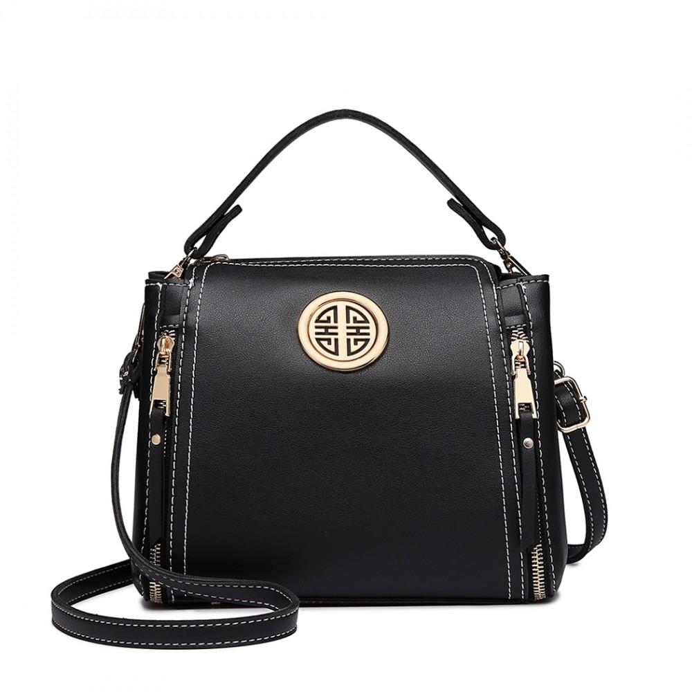 Malá černá dámská moderní kabelka Miss Lulu