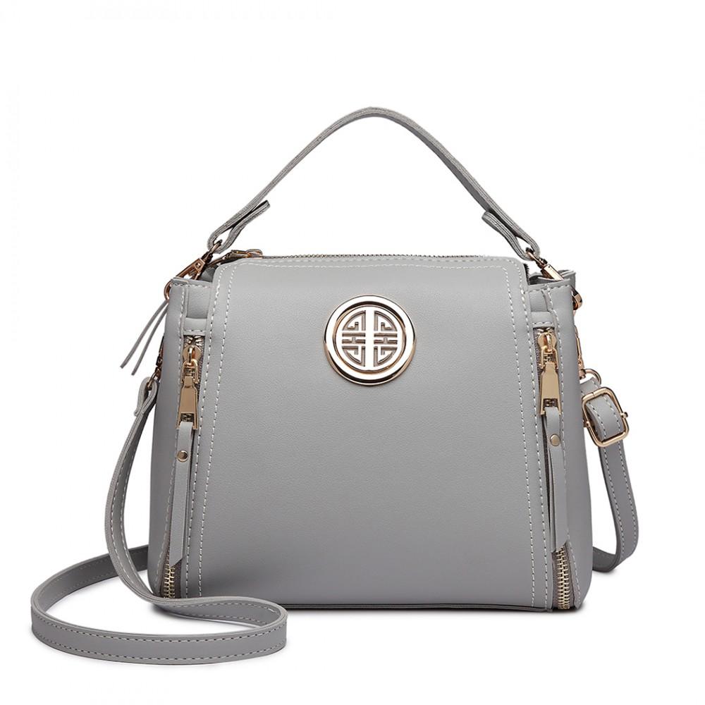 Malá šedá dámská moderní kabelka Miss Lulu