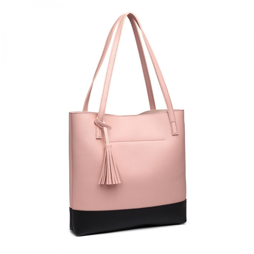 Růžová kabelka přes rameno Miss Lulu