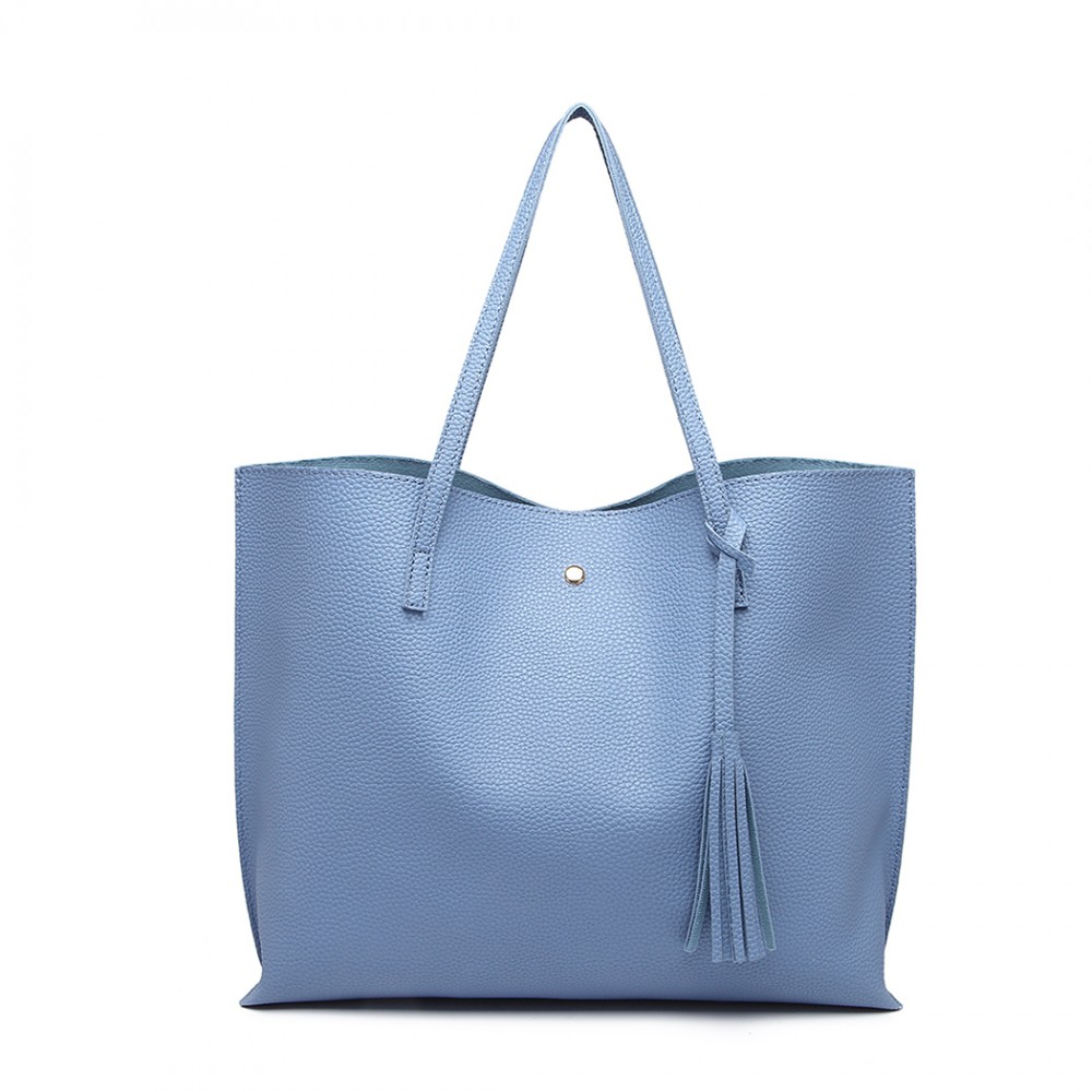 Dámská modrá kabelka pro formáty A4 Miss Lulu  8ff84da947a