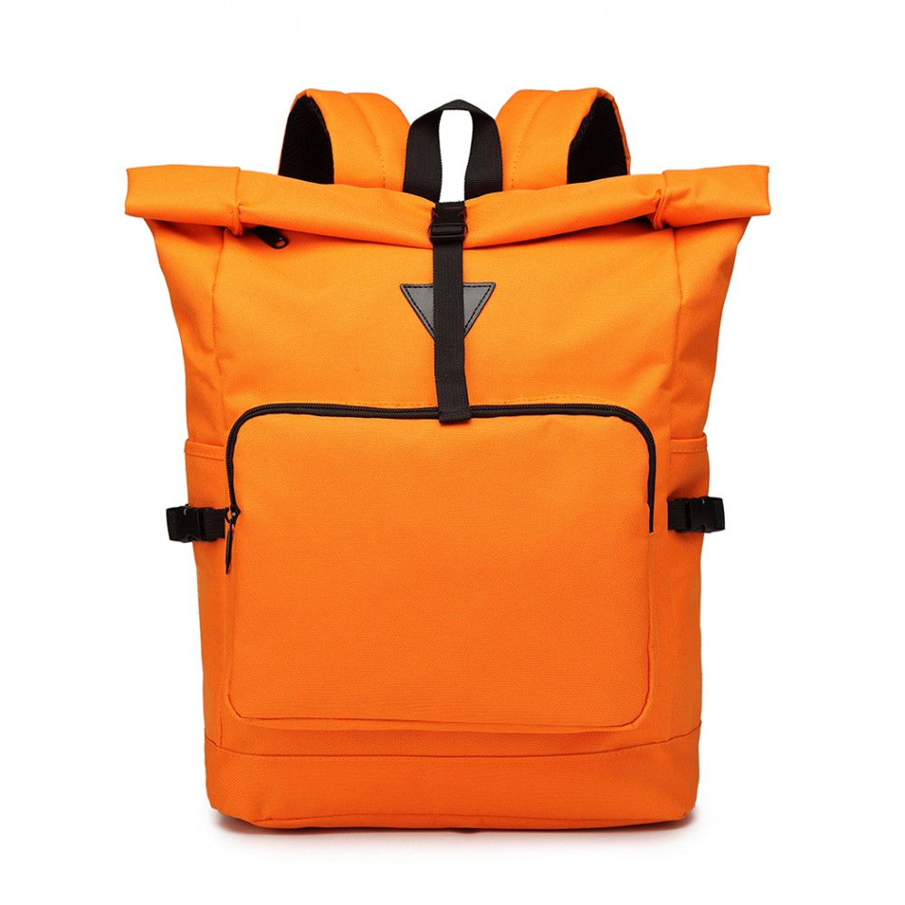 Oranžový školní batoh Miss Lulu UNISEX