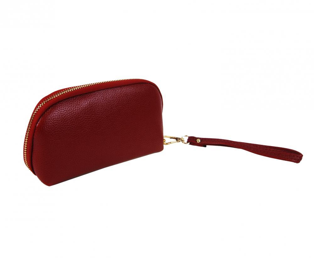 Praktická dámská pouzdrová peněženka červená FD-059