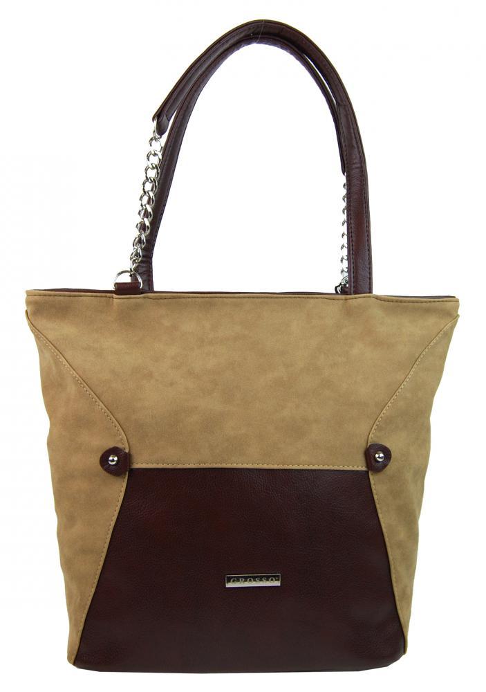 Škoricová hnedá kabelka na rameno S615 GROSSO