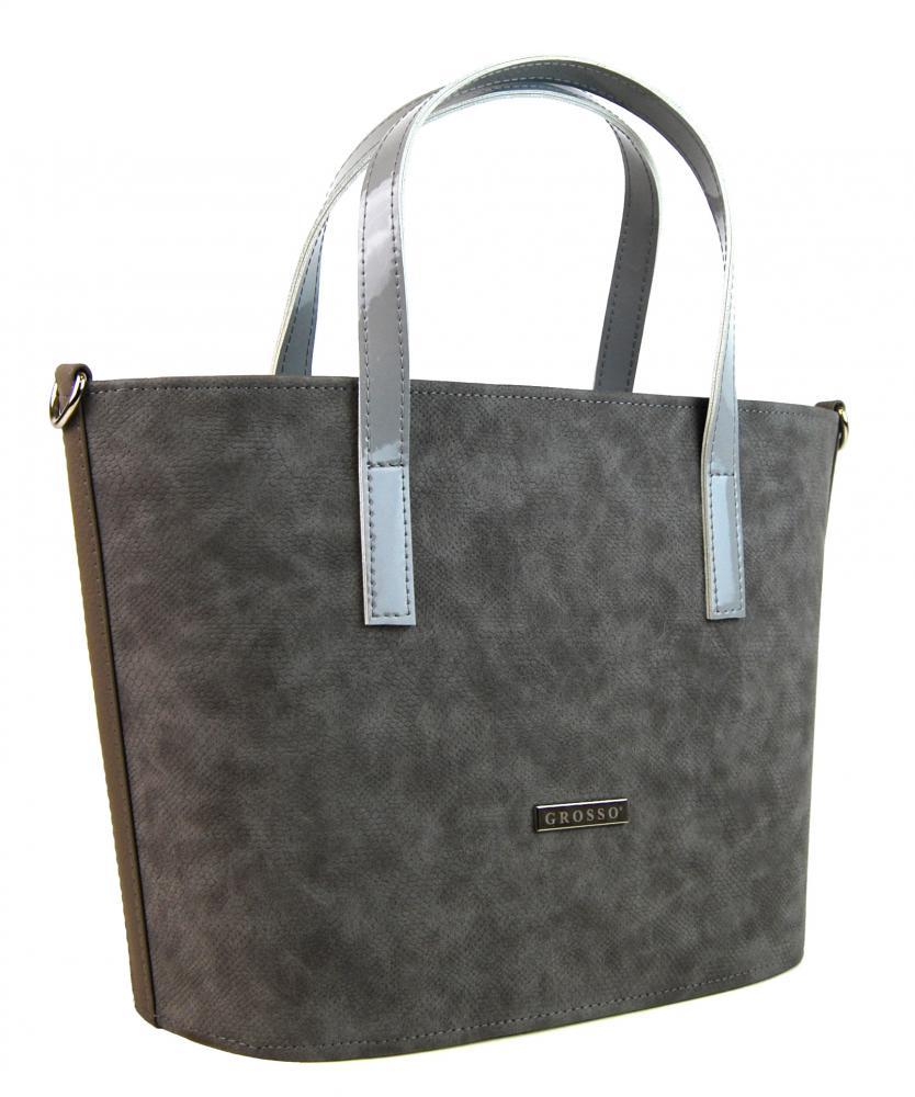 Sivá matná hadia kabelka S636 GROSSO