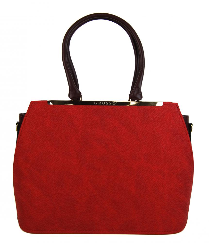 0c3d2ecec8 Červeno-bordová dámská elegantní kabelka S700 GROSSO empty