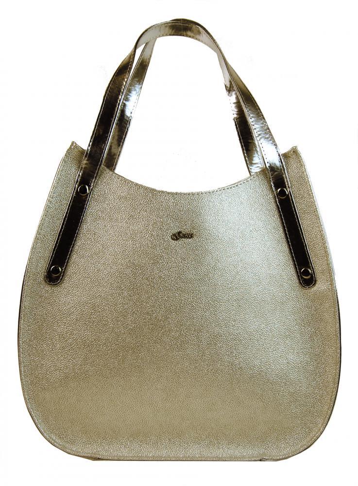 Zlatá elegantní dámská kabelka S704 GROSSO