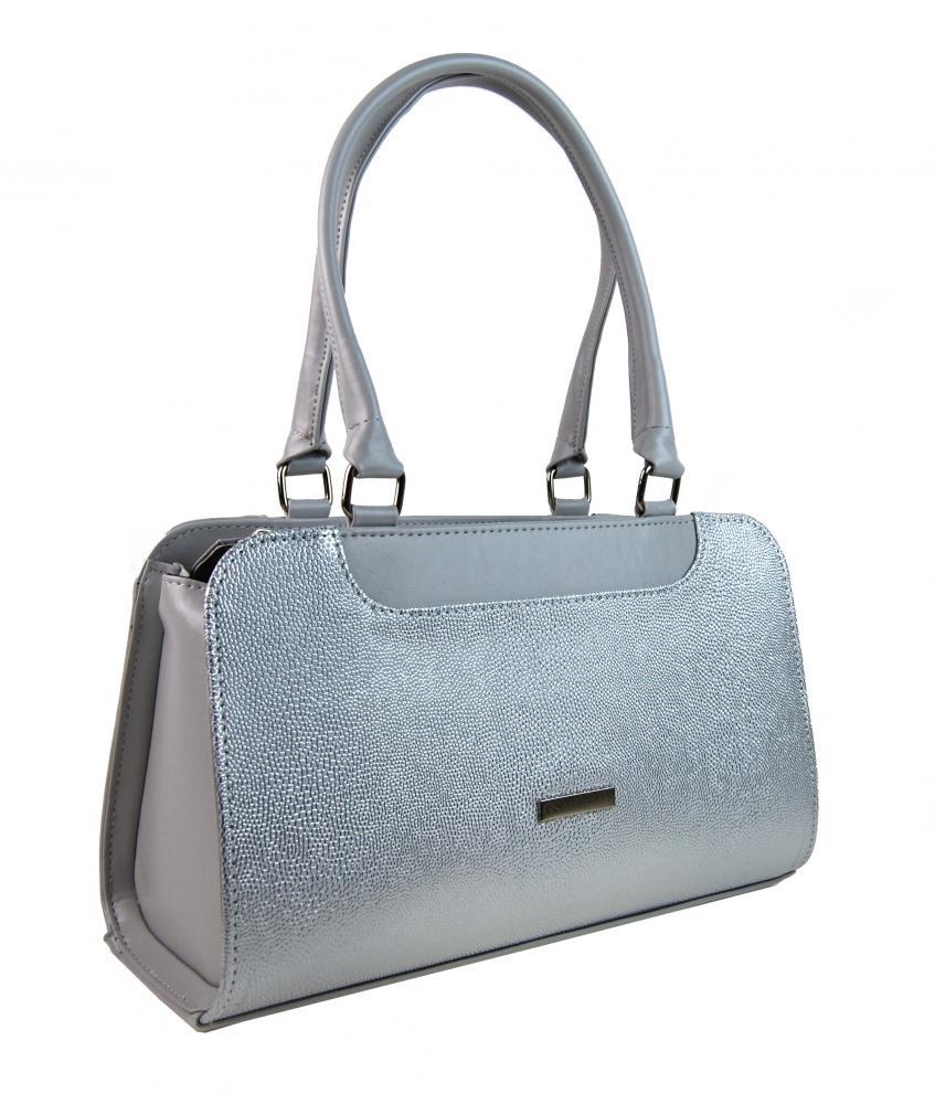 GROSSO Stříbrná vyztužená luxusní dámská kabelka d484841825e