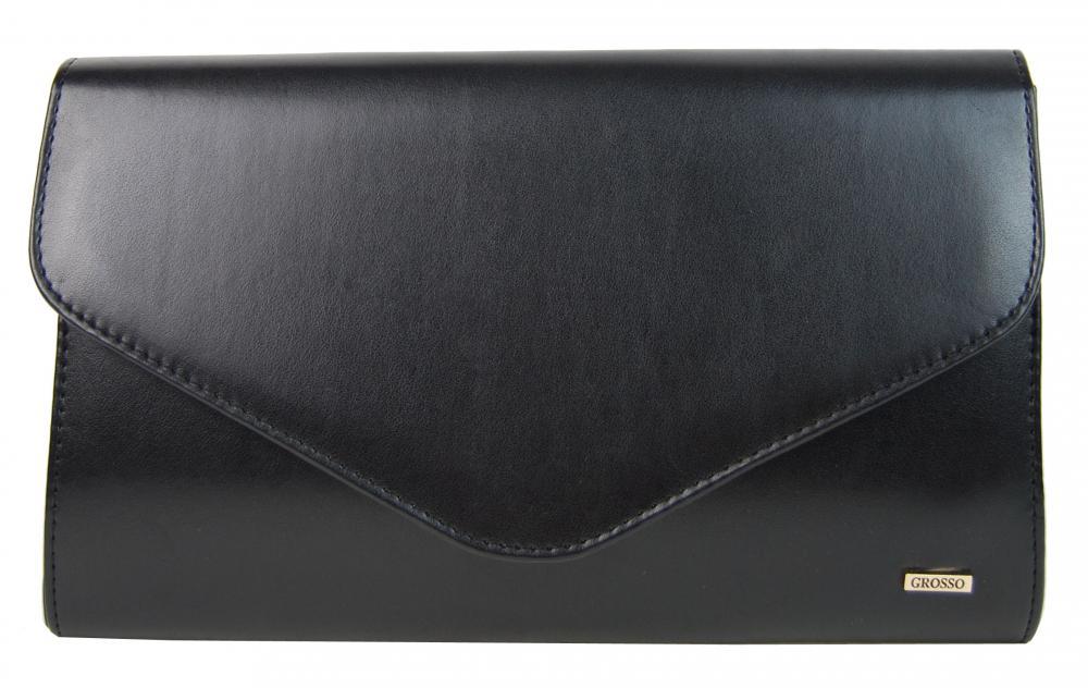Čierna matná spoločenská kabelka SP102 GROSSO