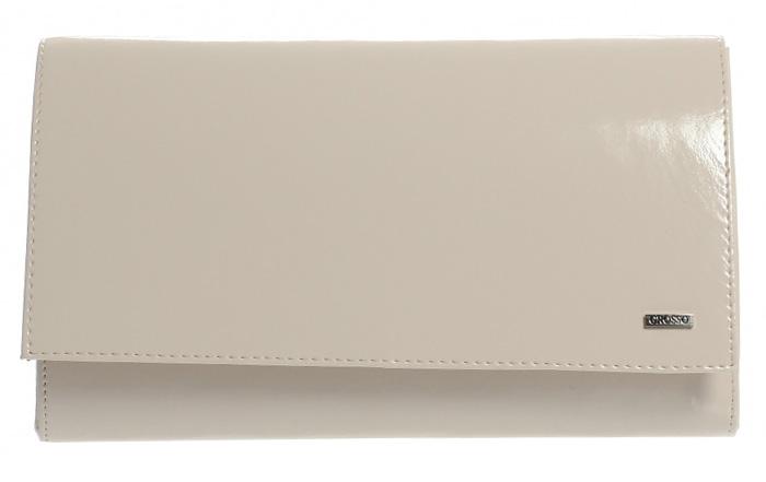 Luxusní pudrová lakovaná dámská listová kabelka SP100 GROSSO