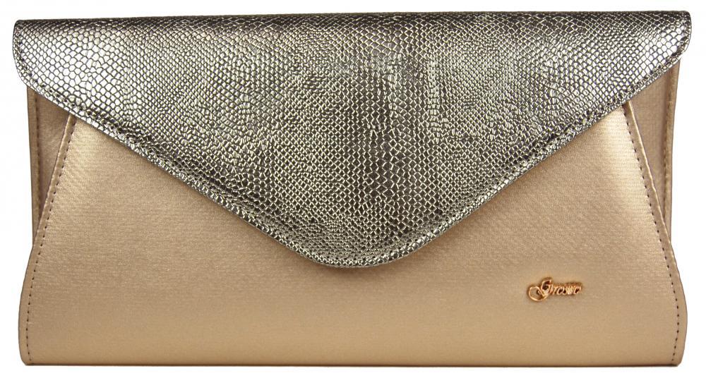 Zlatá listová spoločenská kabelka SP126 GROSSO