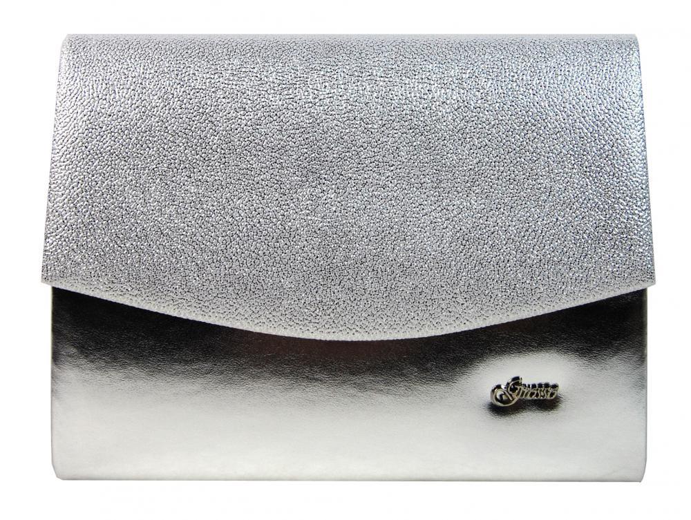 Luxusná strieborná brokátová listová kabelka SP132 GROSSO