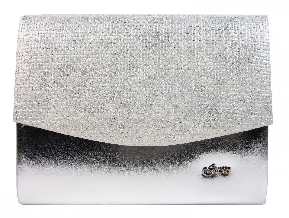 Luxusná strieborná mesačná listová kabelka SP132 GROSSO