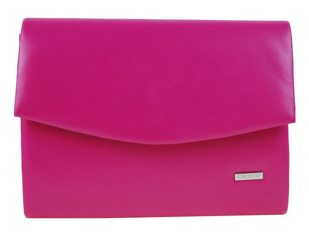 Luxusná sýto ružová matná dámska listová kabelka SP132 GROSSO