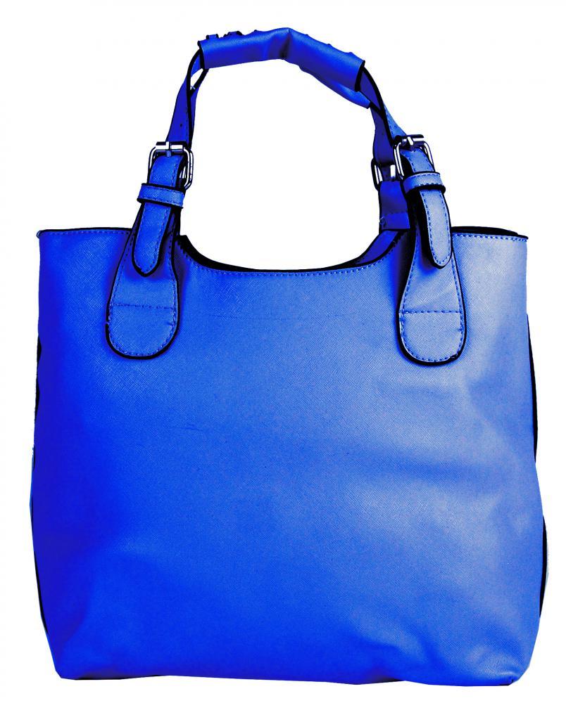 Módna shopper kabelka do ruky 3036 modrá