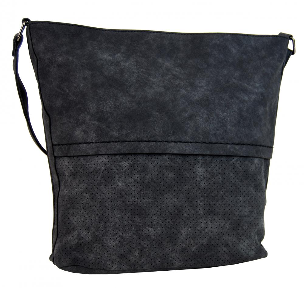 Dámska brúsená crossbody kabelka 16010 čierna