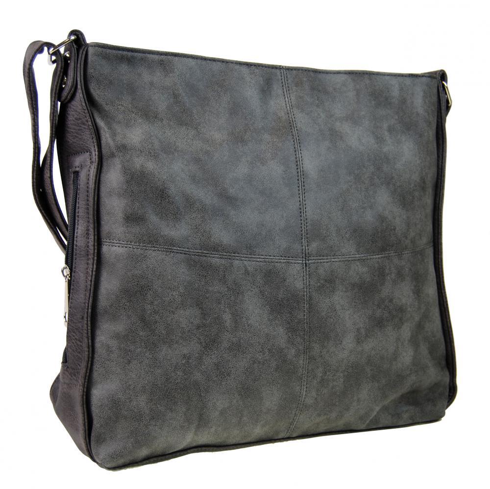 Veľká sivá dámska crossbody kabelka s fialovým nádychom H17151 empty b8ba222f809