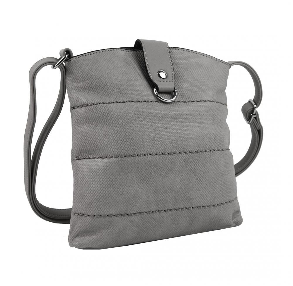 Malá dámská crossbody kabelka H17377 světle šedá