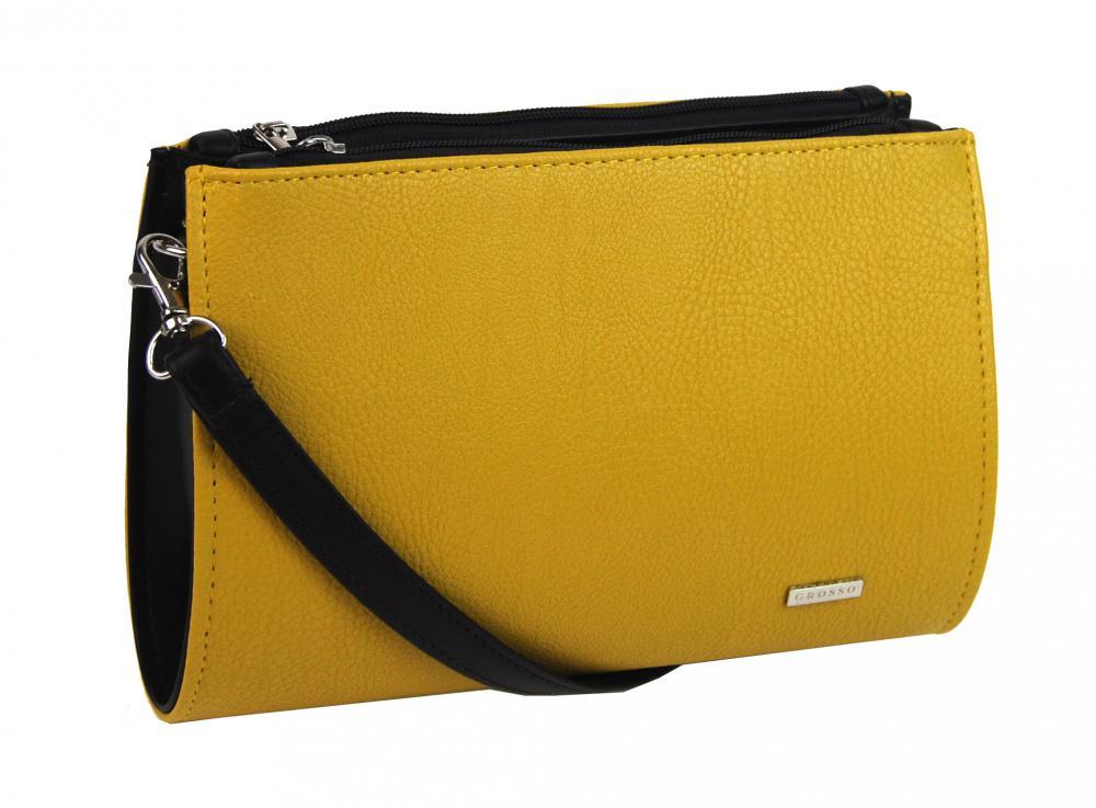 e45990846 KABELKY | Horčicovo žltá dámska crossbody kabelka / lístoček M191 ...