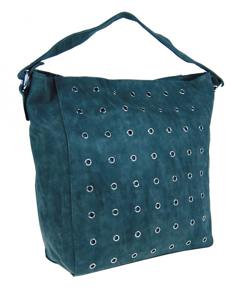 Brúsená kabelka na plece M9001 modrá