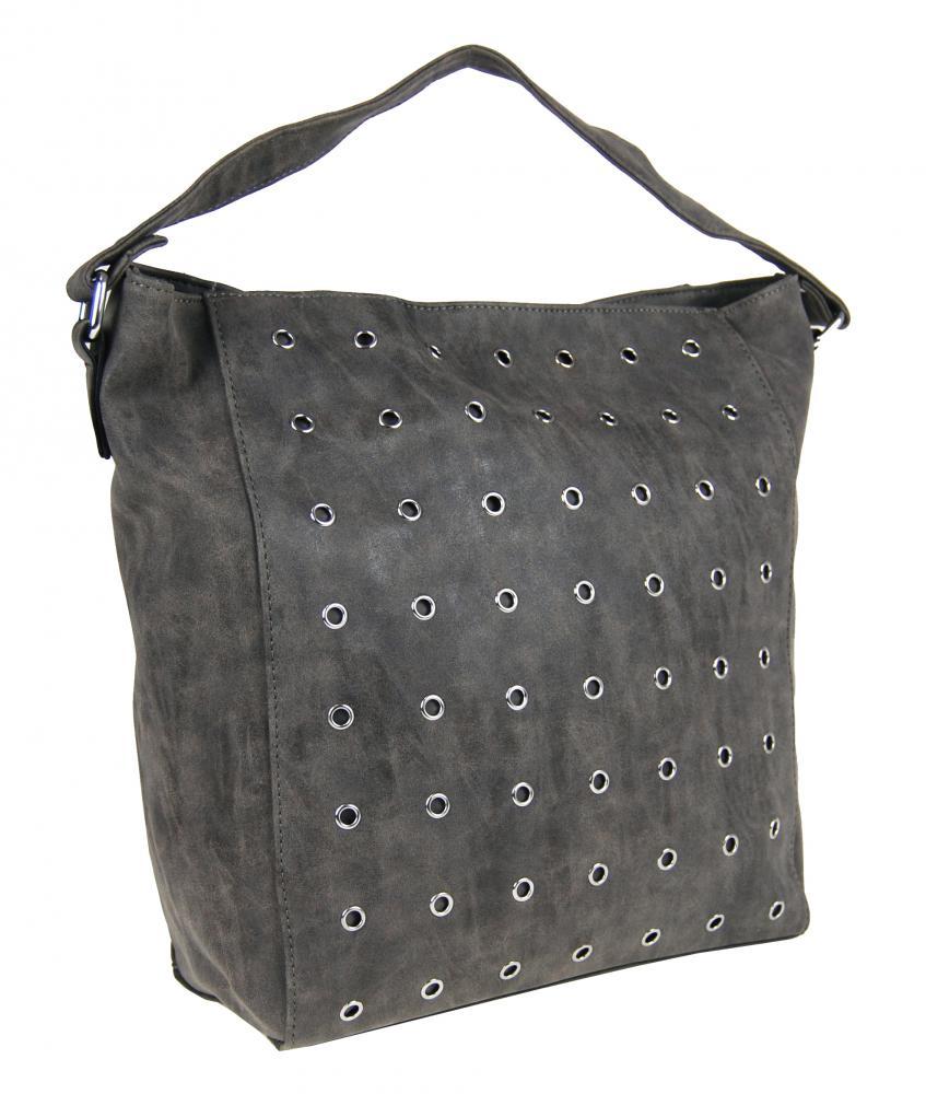 Brúsená kabelka na plece M9001 sivá