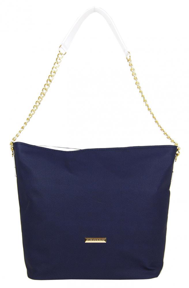 Modro-bílá matná kabelka přes rameno S478 GROSSO