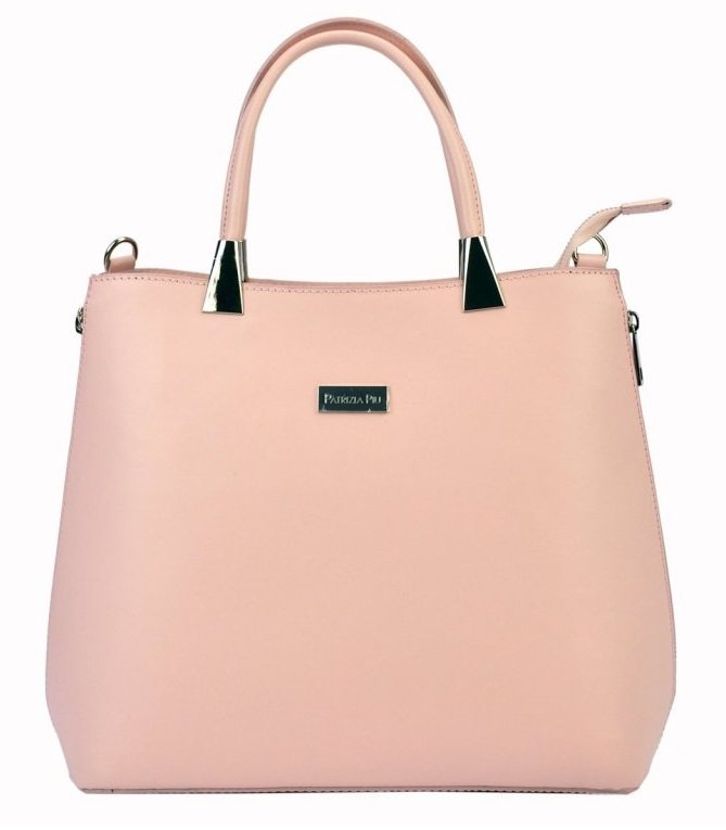 e7d707dd81 Růžová moderní kožená dámská kabelka Patrizia Piu